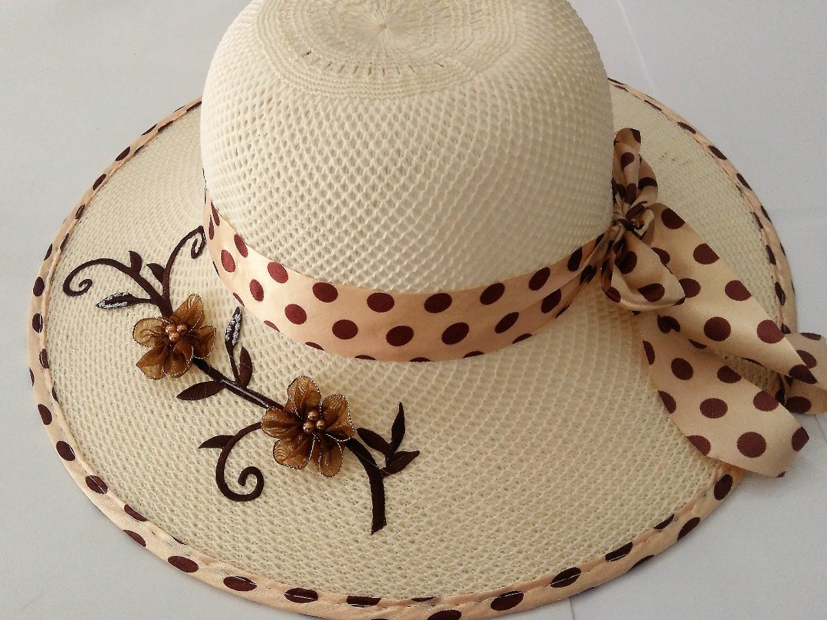 chapéu praia feminino floppy aba laço piscina verão. Carregando zoom. b232db5333b