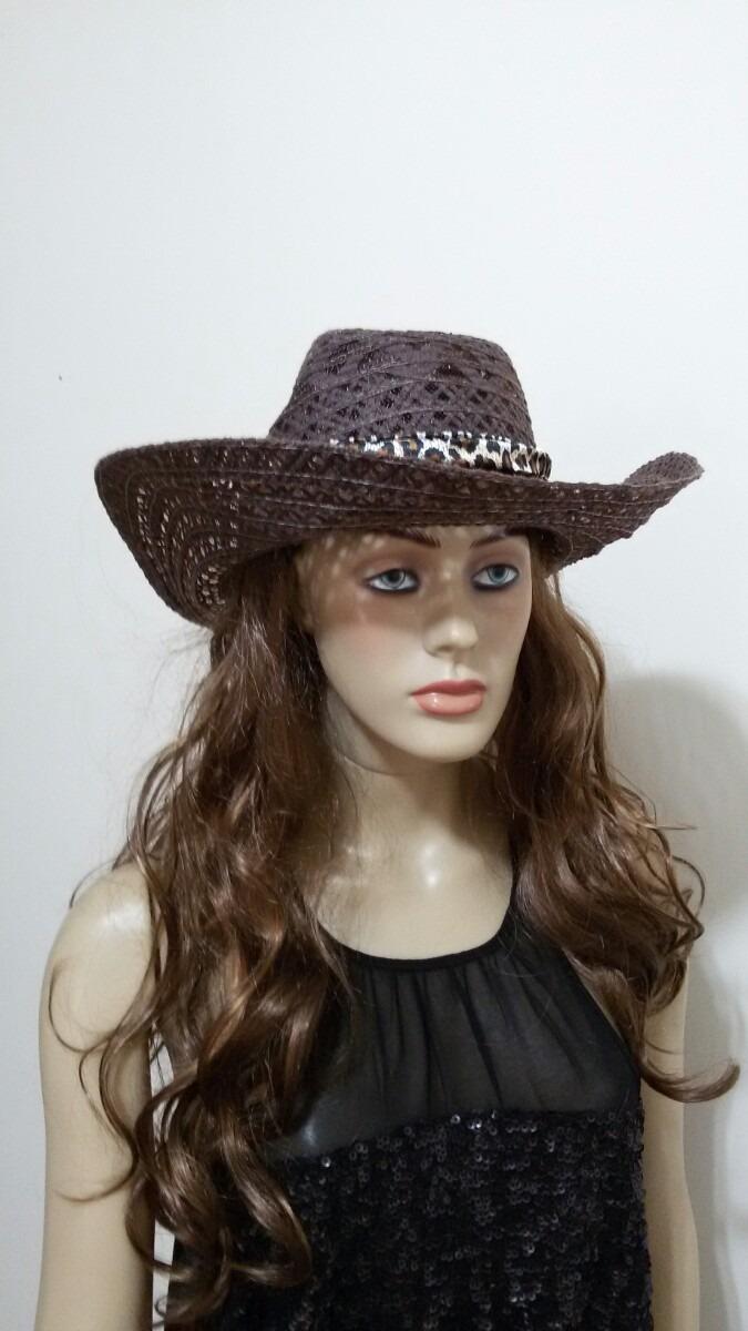 chapéu praia feminino rodeio country cowboy moda sertanejo. Carregando zoom. 2091d678804