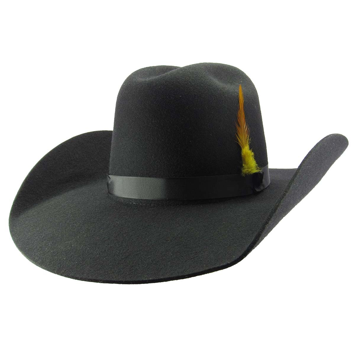 391b97d9bbc82 chapéu pralana feltro preto old west country aba 11 - 99833. Carregando  zoom.