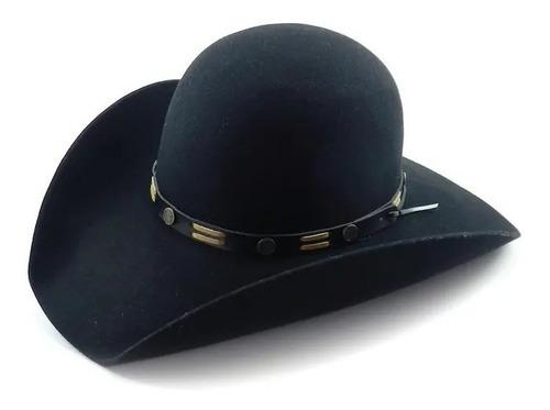 chapéu pralana pantanal preto 100% lã.