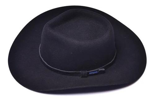 chapéu pralana snow river preto 100% lã