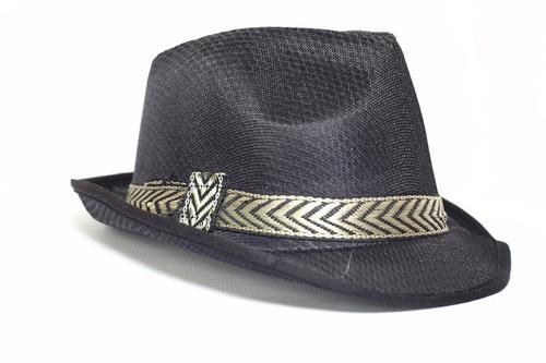 chapéu preto adulto fantasia carioca samba malandro panamá