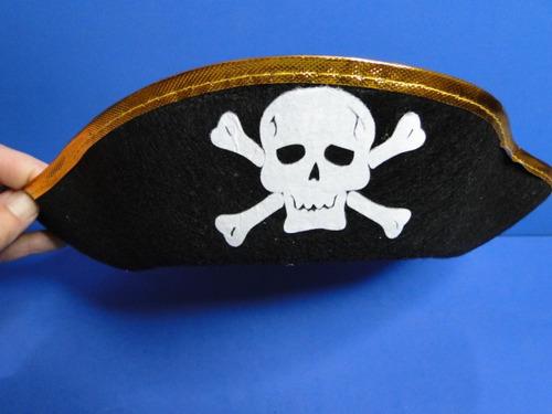 chapeu   preto    tribico   pirata   festas