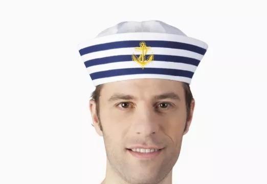 Chapéu Quepe Boina Marinheiro Marinha Festa A Fantasia - R  25 f2eea3d74c2