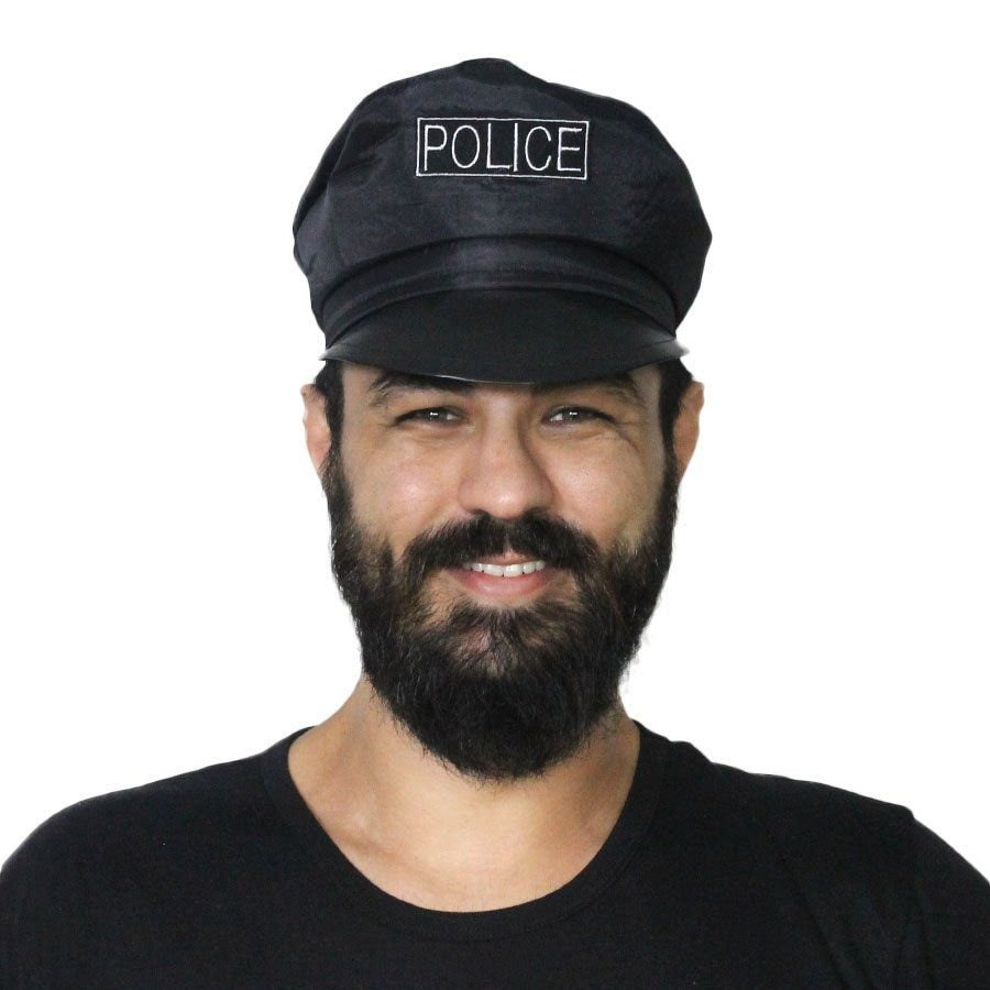 chapéu quepe boina policial policia festa fantasia. Carregando zoom. f65e4170e23