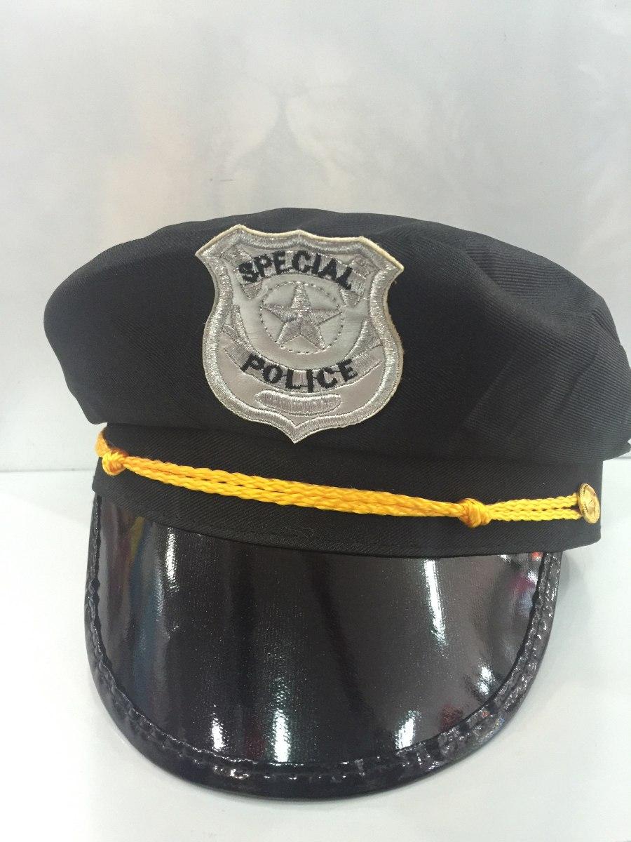 chapéu quepe boina preto policial fantasia. Carregando zoom. d1432905f85
