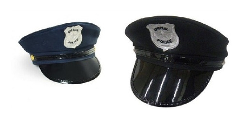 chapeu quepe boina preto policial fantasia carnaval