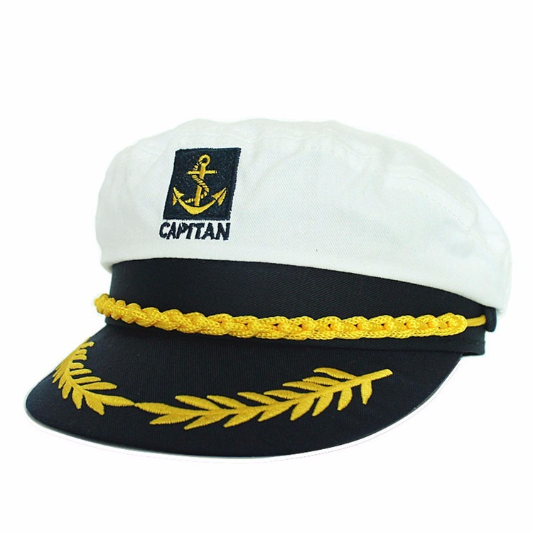 Chapéu Quepe Capitão Marinha Marinheiro Fantasia Festa Boina - R  59 ... ee642f5ce15