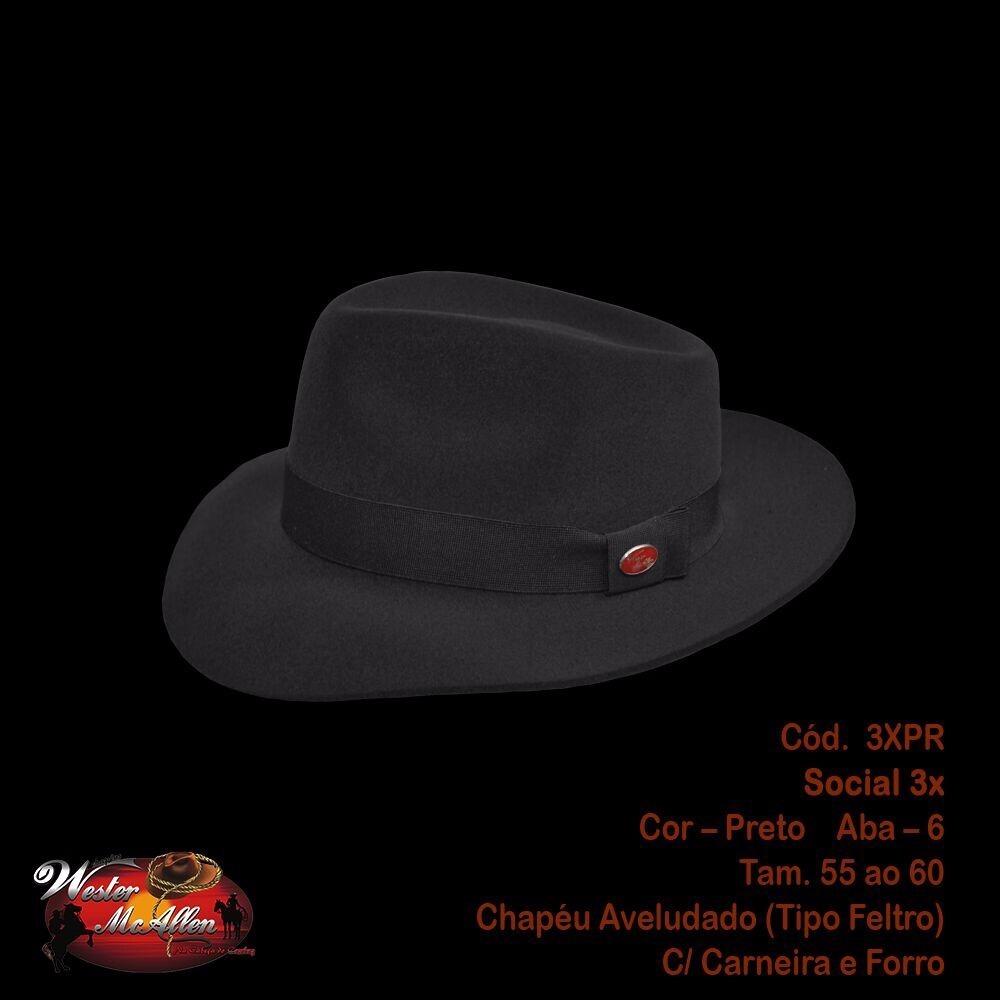 chapéu social 3x fedora. Carregando zoom. 0d2af787afd