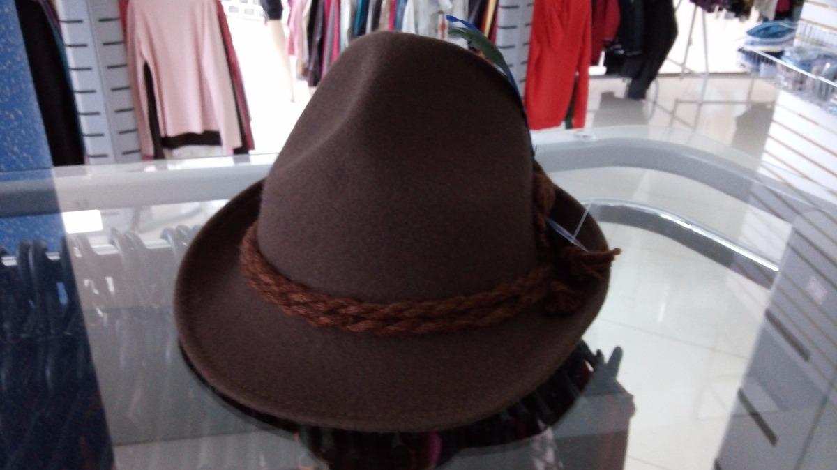chapéu típico tirolês marrom g traje típico. Carregando zoom. 86aaa9dc369