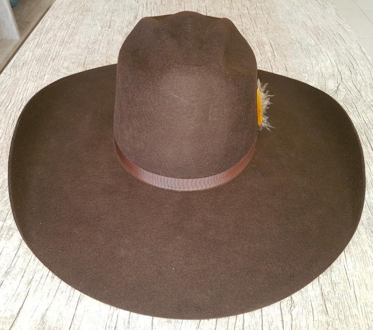 chapéu top bull lã 30x marrom copa cavaleiro. Carregando zoom. fcaeecce8eb