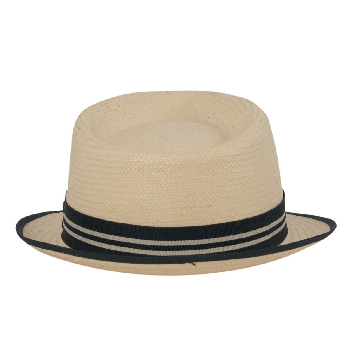 chapéu trilby unissex estilo palha aba curta todos os tamanh. Carregando  zoom. ef218c7c754