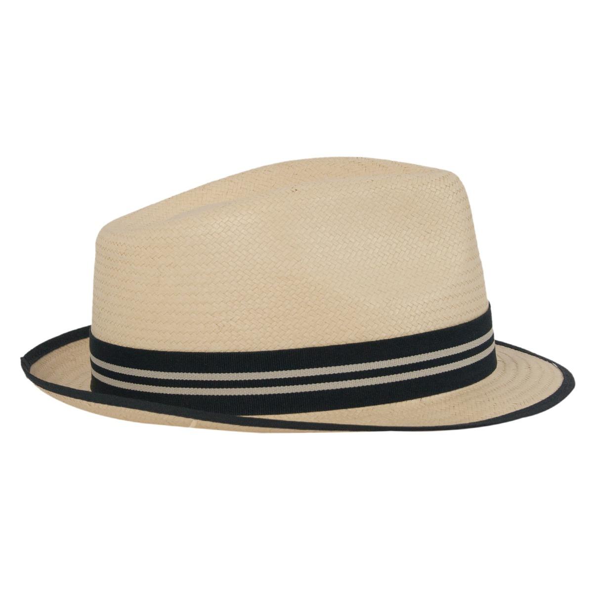 ba6df388670a1 chapéu trilby unissex estilo palha aba curta todos os tamanh. Carregando  zoom.