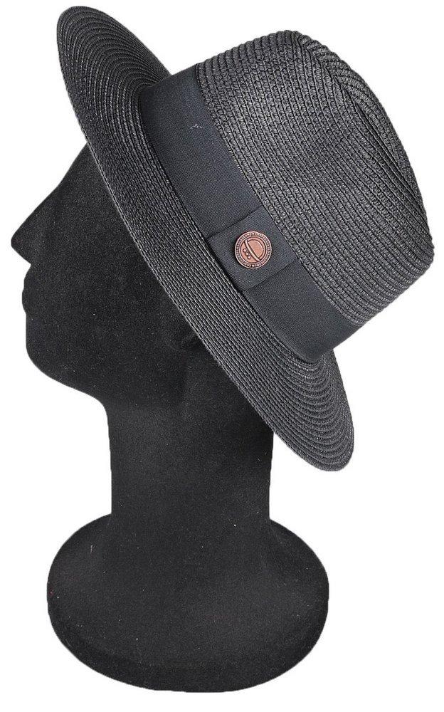 781b85a1949da chapéu unissex moda praia 2018 palha preta aba média 7cm. Carregando zoom.