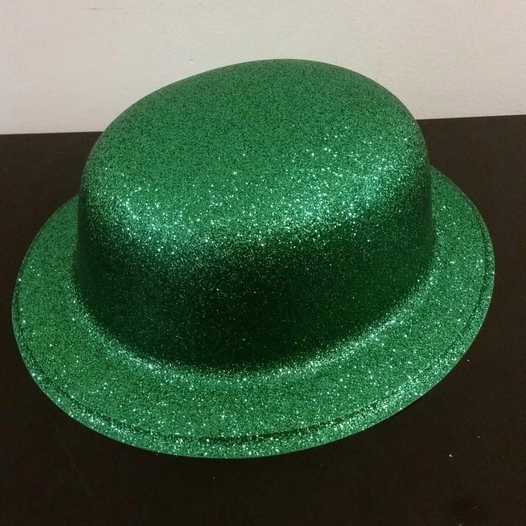 0d764f207c51f Chapéu Verde St. Patricks Day - Com Purpurina - Plástico - R  18