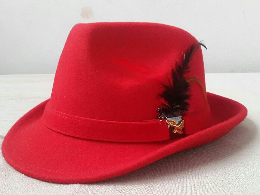 chapéu vermelho fedora panama fantasia. Carregando zoom. 1600f38c9a1
