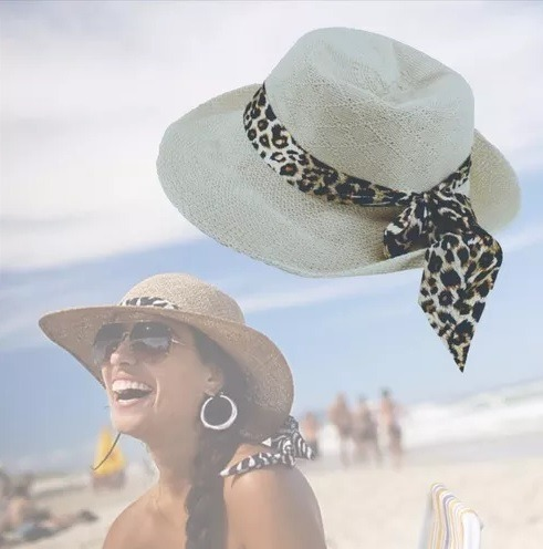 Chapéu Verão Feminino De Palha Moda Praia Modelo Panamá Luxo - R  28 ... 3a8c7edf8e4