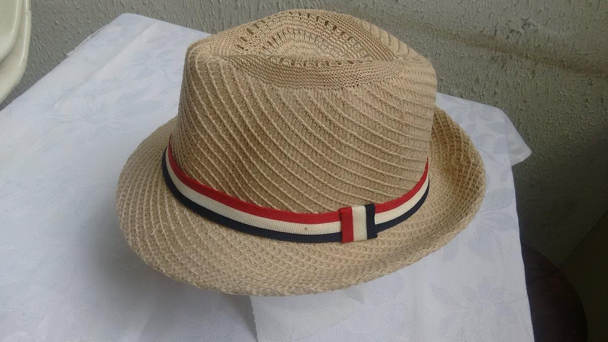 chapéu vintage palha faixa colorida   cor  caqui. Carregando zoom. 255048b04d4
