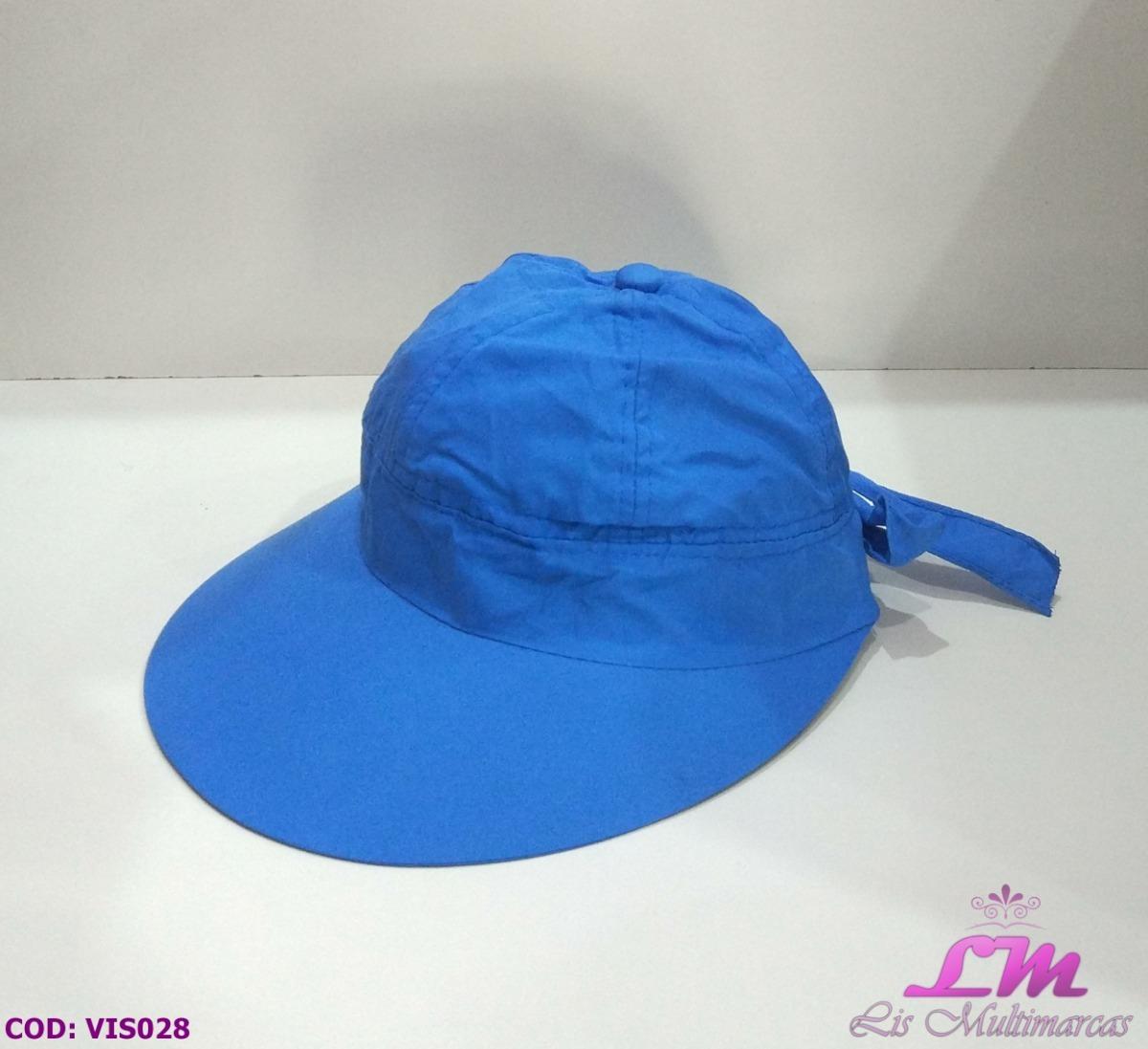 Chapéu Viseira Boné Feminino - Azul Claro (praia 142b6e71ff5