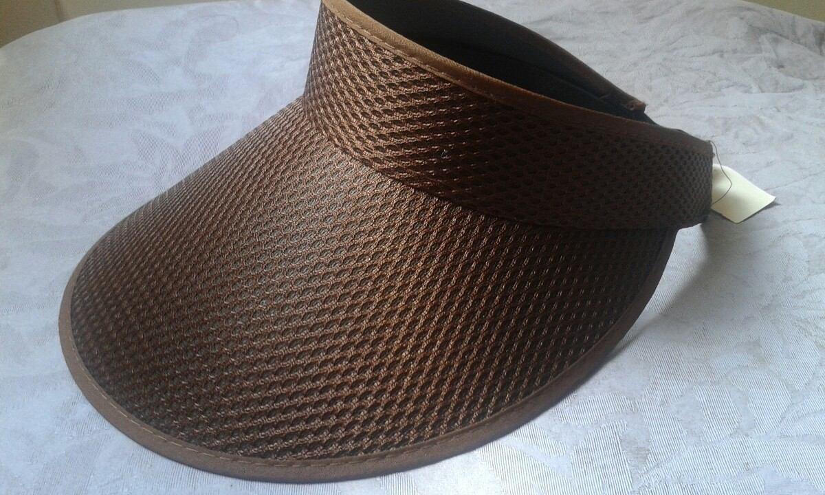 fc5d3016fa1eb chapéu viseira de praia igual da juju salimeni cor marrom. Carregando zoom.