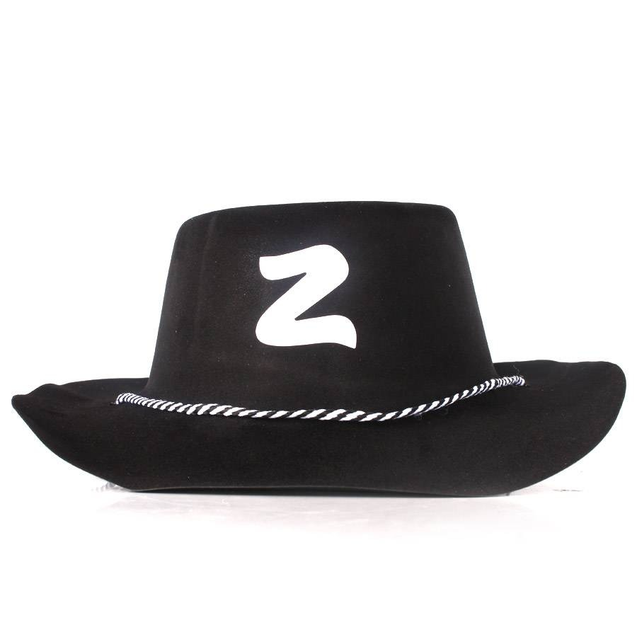 chapéu zorro country preto festa junina. Carregando zoom. 51f0000057d
