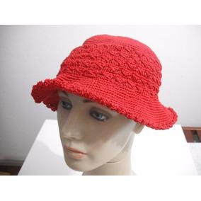 9516c95d72e08 Chapéu Tipo Trico Crohe Vermelho Usado Bom Estado