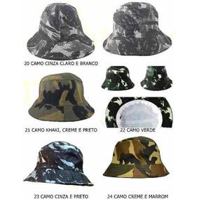 e614e56ab2e64 Chapéu Bucket Hat Liso Camuflado Chorão Swag Praia