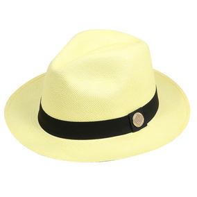96e79ef28c0c4 Chapéu Legítimo Panamá Amarelo Palha Toquilla Lindo Estiloso