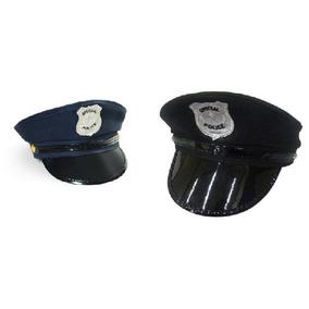 73c9201276158 Chapeu Quepe Boina Preto Policial Fantasia no Mercado Livre Brasil