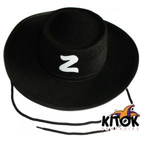 1647419268ec1 Chapéu Zorro De Feltro Com Cordão Infantil 15 Unidades