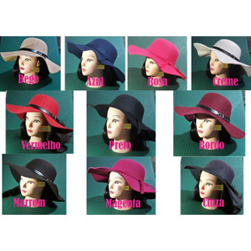 e3f5d58da6a65 Chapéu Floppy Feltro - Chapéus para Feminino no Mercado Livre Brasil