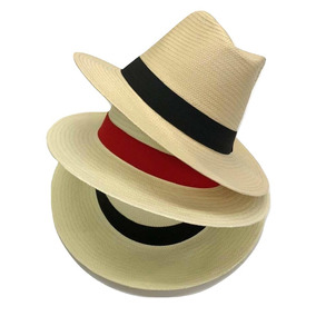 0bc6bd8d8553d Chapéu Moda Panamá Fedora Aba Larga Masculino Feminino Praia. 4 cores. R  59