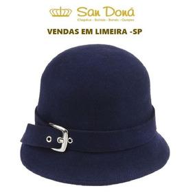 1088321b6c4dc Tecido Feltro Azul Marinho - Chapéus no Mercado Livre Brasil