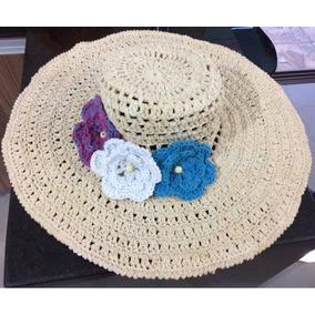 4626dfc3d719e Chapeu De Praia De Croche no Mercado Livre Brasil