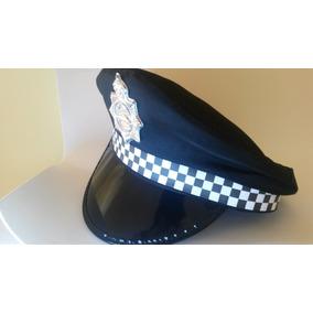 6132b0473b365 Chapeu Tipo Quepe Preto Policial - Artigos para Festas no Mercado ...