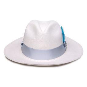 5d422e8092b12 Chapeu Panama Da Portela Com A Fita Azul no Mercado Livre Brasil