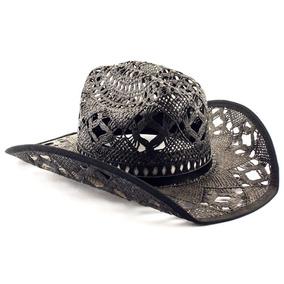 444ff315d79c5 Kit 10 Chapéu Tipo Palha Preto Country Cowboy Festa Barreto