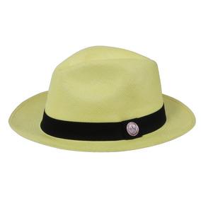 a5a5facc22dc3 Chapéu Panamá Premium Legítimo Amarelo Palha Toquila Aba 6cm