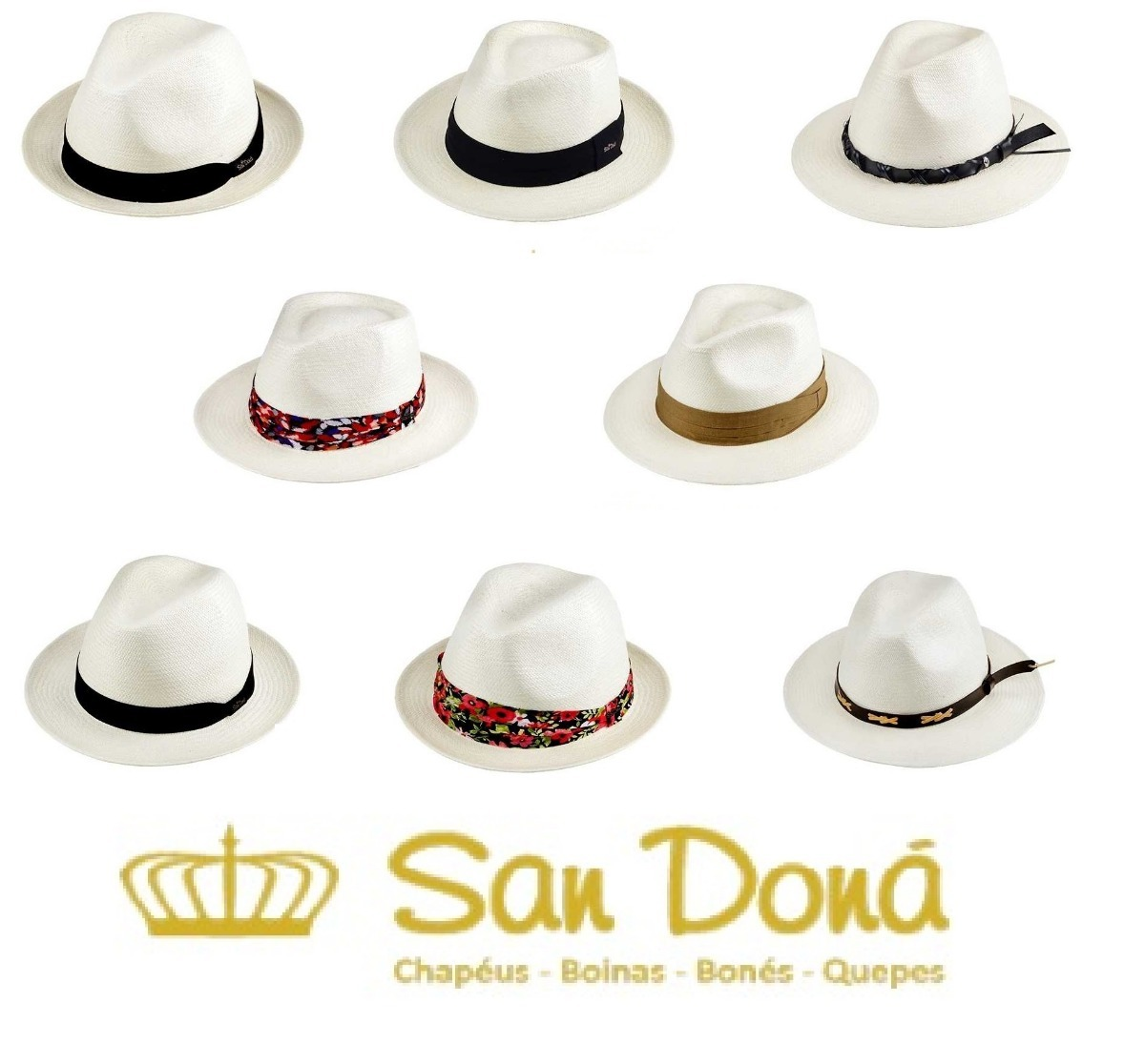 Chapéus Legítimo Panamá Original Equador 54 A 62 San Doná - R  336 ... 341eac31b3d