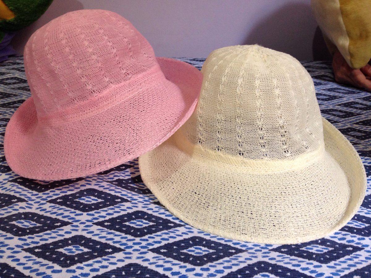 Chapéus Para Praia Chapéu Piscina Rosa E Bege - R  30 9eaeff5e0c1