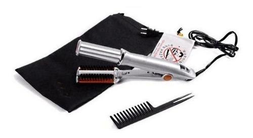 chapinha dupla profissional escova rotativa modelador cabelo