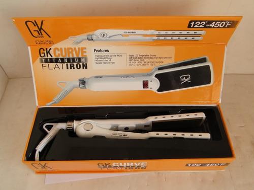 chapinha gk curve titanium flat iron 110v c/detal-1001coisas