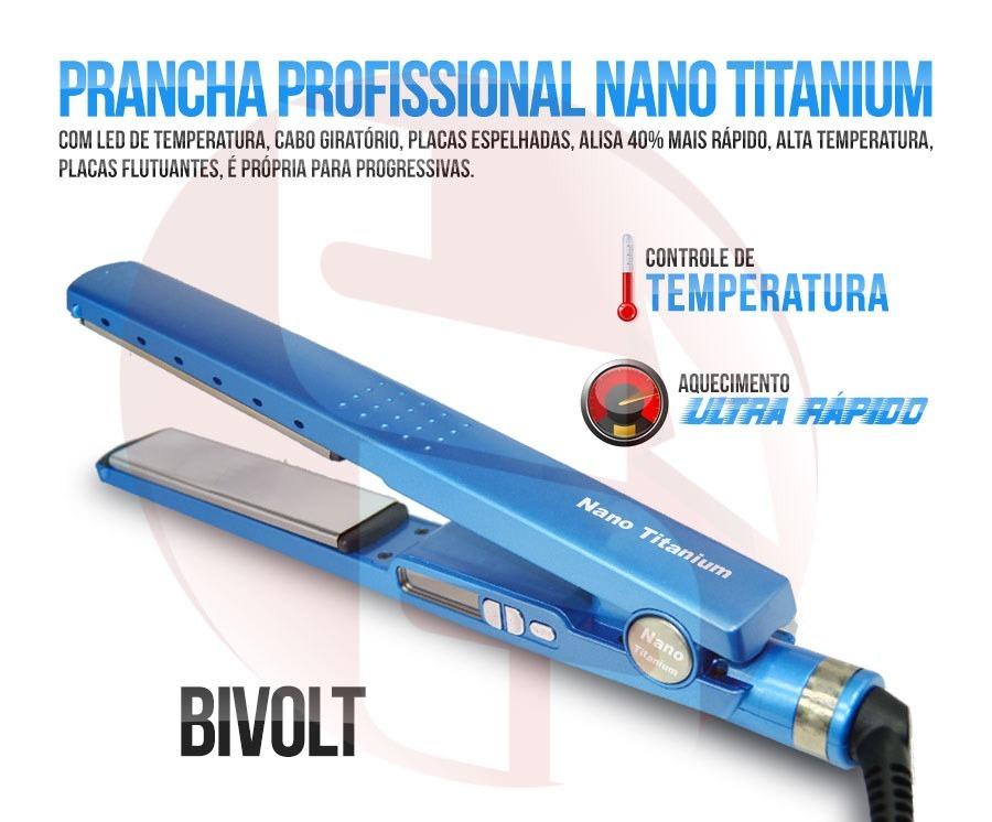 14d785e0c chapinha prancha profissional nano titanium 1 1/4 até 450ºf. Carregando  zoom.