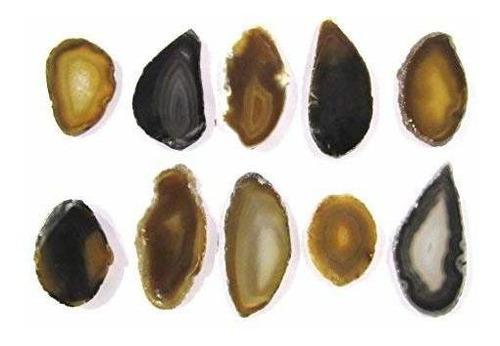 chapinhas de ágatas naturais c/furo (4 a 7 cm) - 10 unid