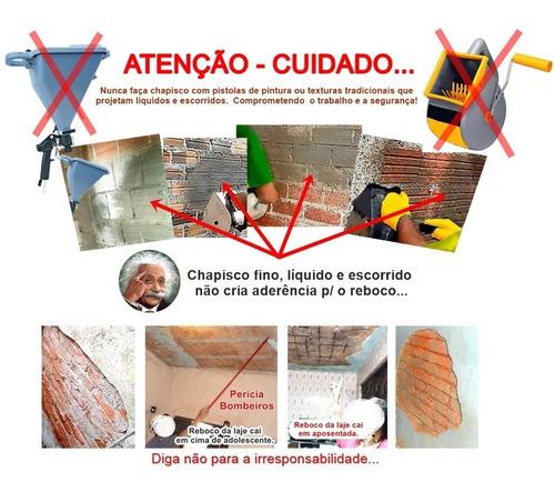 chapiscadeira profissional reboco&textura t&p 3.6 l  kit2 m