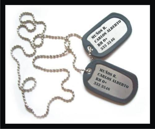 chapitas de identificacion grabado personalizado - dog tags