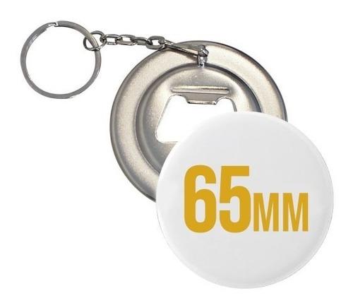 chapitas llavero destapador abridor 65mm - metal - 100 und