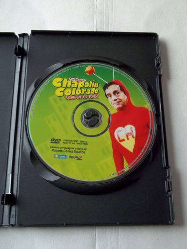 chapolin colorado - dvd o melhor do chapolin - raro!