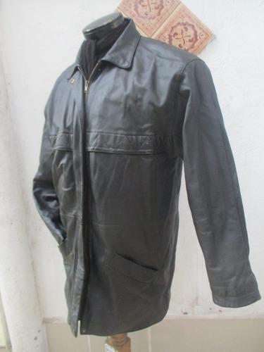 chaqueta 100% cuero color negro de hombre talla xs