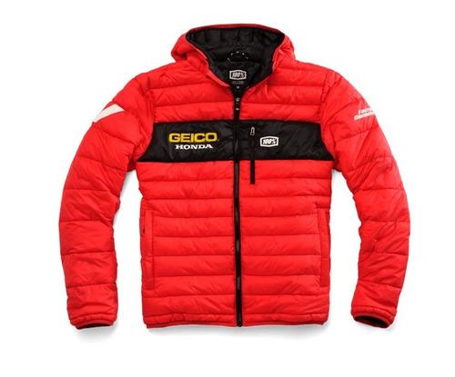 chaqueta 100% geico honda mode para hombre, rojo lg